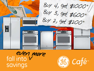 GE Cafe Fall Into Even More Savings Appliance Package Rebate