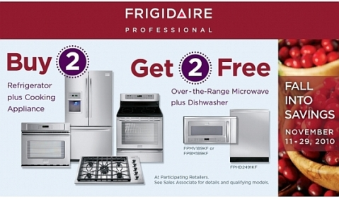 Frigidaire Buy 2 Get 2 Promotion