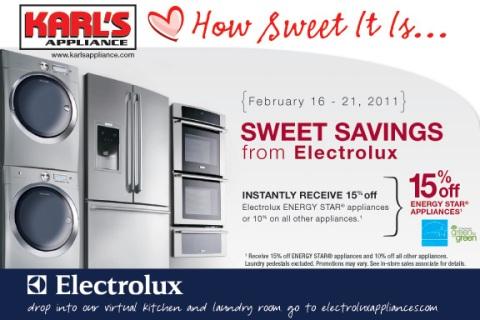 Electrolux Appliance Instant Rebate