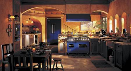 Viking Cobalt Blue Kitchen