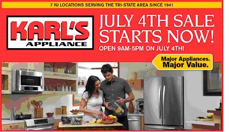 Karl's Appliance July 4th Sale