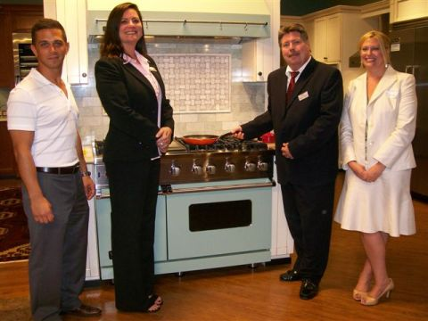 Karl's Appliance Paramus Event - Viking Range and Hood Display