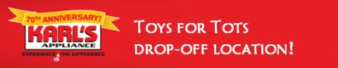 Karl's Appliance Toys for Tots